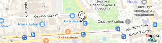 ЦентрОбувь на карте Пятигорска