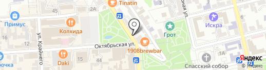 Нотариус Тупицкая С.А. на карте Пятигорска