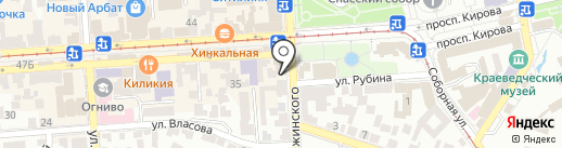 Охотник на карте Пятигорска