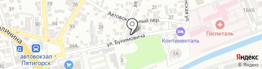 Миллениум на карте Пятигорска