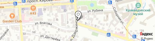 Магазин товаров для праздника на карте Пятигорска