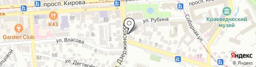 Валентина на карте Пятигорска