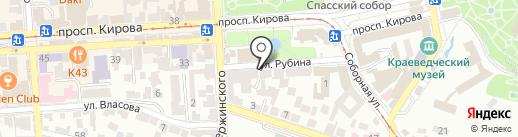 Служба спасения г. Пятигорска, МКУ на карте Пятигорска