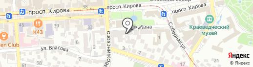 Единая дежурно-диспетчерская служба на карте Пятигорска