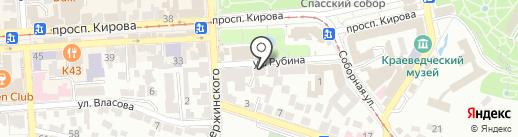 Локон на карте Пятигорска
