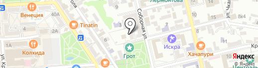Детский сад №47, Золотой петушок на карте Пятигорска