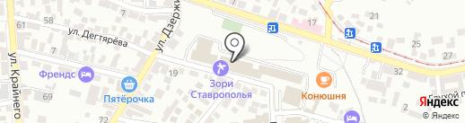 Зори Ставрополья на карте Пятигорска