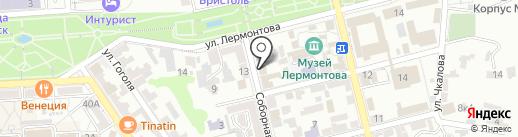 Зеленая на карте Пятигорска