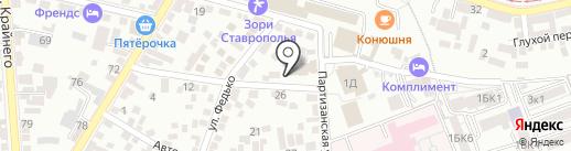 Дом молитвы евангельских христиан-баптистов на карте Пятигорска