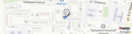 Барбарики на карте Горячеводского