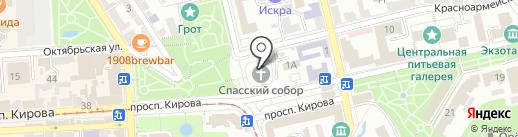 Спасский собор на карте Пятигорска