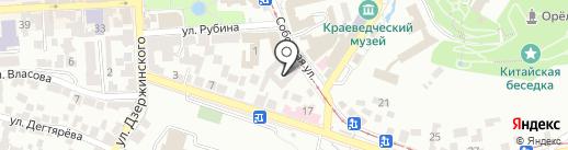 Теплые окна КМВ на карте Пятигорска