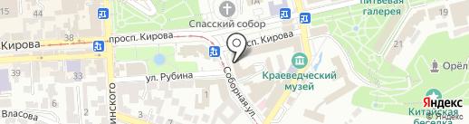 Модистка на карте Пятигорска
