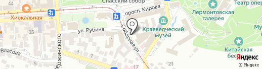 Беллисимо на карте Пятигорска