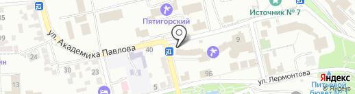 Российский государственный социальный университет на карте Пятигорска