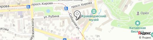 Нептун на карте Пятигорска