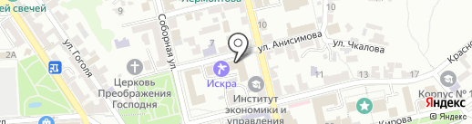 Ветка сакуры на карте Пятигорска