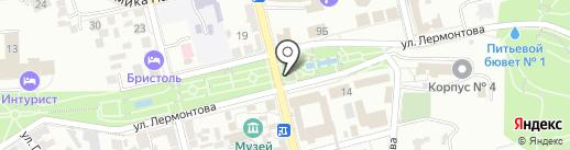 Питьевой бювет источника №1 на карте Пятигорска