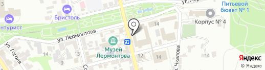 Бассейн на карте Пятигорска