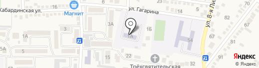 Детский сад №40, Дружба на карте Горячеводского