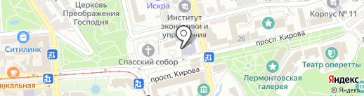 Клиника НИИ курортологии на карте Пятигорска