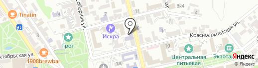 ИнЭУ на карте Пятигорска