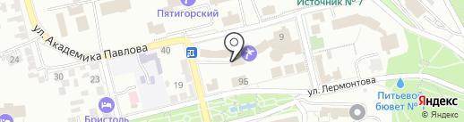 Империя на карте Пятигорска
