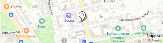 Централь на карте Пятигорска