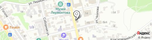 Эмилия на карте Пятигорска