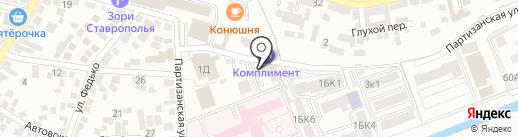 Стимул на карте Пятигорска
