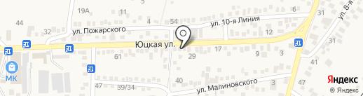 Салон цветов на карте Горячеводского