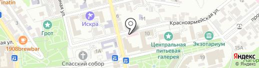 Агада на карте Пятигорска