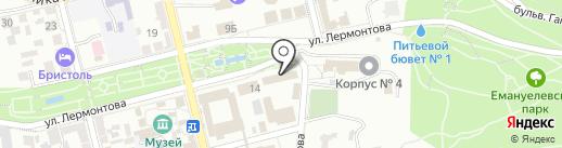 Кедровая бочка на карте Пятигорска
