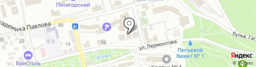 Косметический кабинет на карте Пятигорска