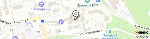 Санаторий им. М.Ю. Лермонтова на карте Пятигорска
