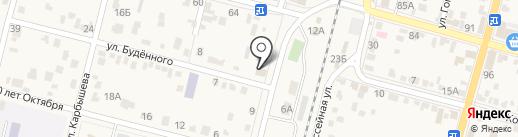 Научно-исследовательская станция шелководства на карте Железноводска