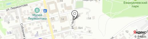 Ангел КМВ на карте Пятигорска