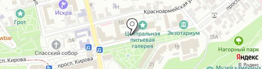 Профмед на карте Пятигорска