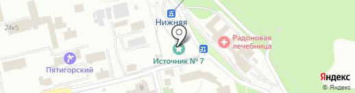 Питьевой бювет источника №7 на карте Пятигорска