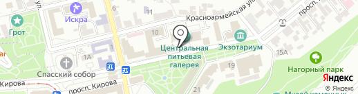 Веранда на карте Пятигорска