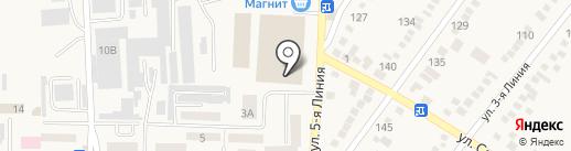Артесон на карте Горячеводского