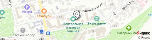Питьевой бювет источника №17 на карте Пятигорска