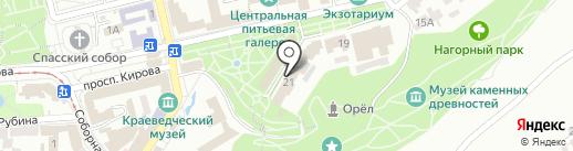 Солнышко на карте Пятигорска