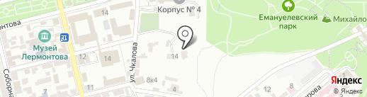 Гидрологическая станция на карте Пятигорска