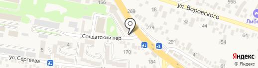 Магазин автозапчастей на корейские автомобили на карте Пятигорска