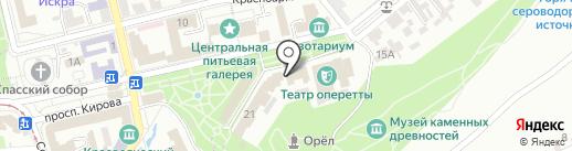 Курортная поликлиника им. Н.И. Пирогова на карте Пятигорска