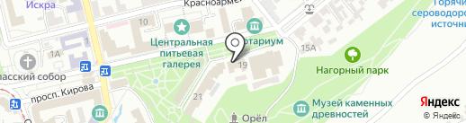 Целитель на карте Пятигорска