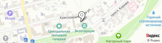 Профсоюз работников здравоохранения на карте Пятигорска