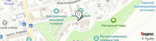 Театр оперетты на карте Пятигорска