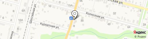 Магазин крепежных изделий на карте Железноводска